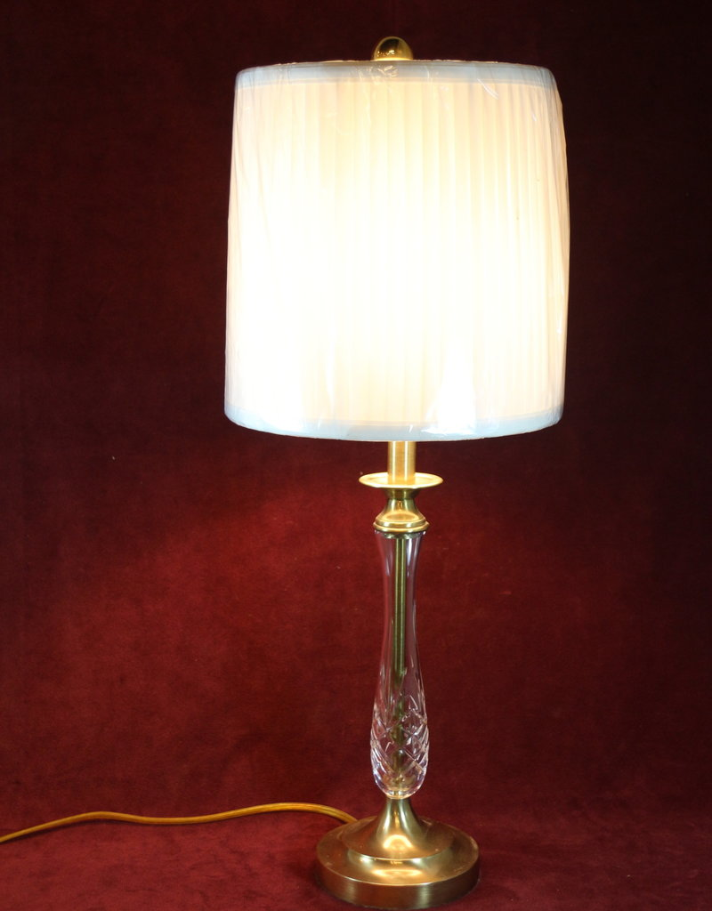 Lamp, Table, Crystal and Brass