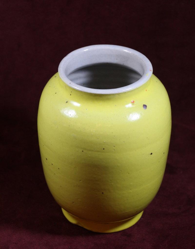 Small Yellow Ceramic Coil Vase