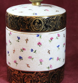 Asian Ceramic Lidded Jar