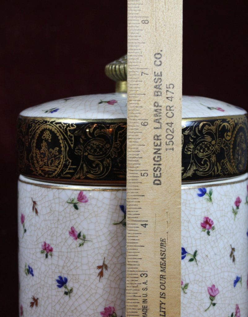 Asian Ceramic Lidded Jar