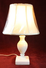 Lamp, Table, Small, White, Marble