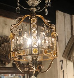 Golden Italian Cage Chandelier