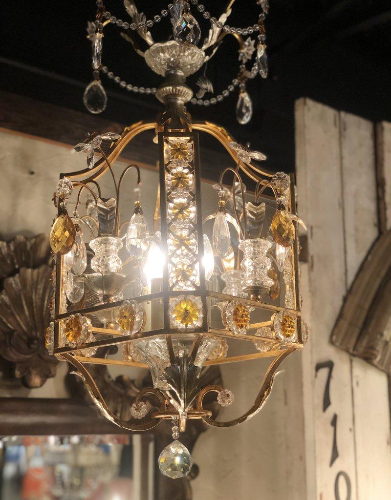 Golden Italian Cage Chandelier