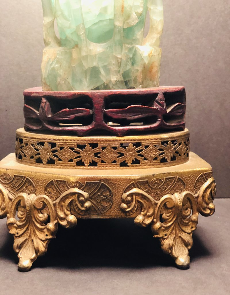 Carved Jade table lamp