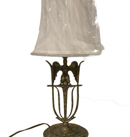Antique Brass Eagle Desk Lamp (shade not included)