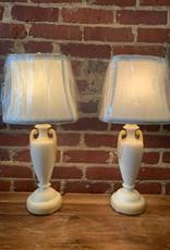 Milk Glass Aladdin Buffet Lamps