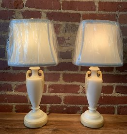 Pair of Milk Glass Aladdin Buffet Lamps