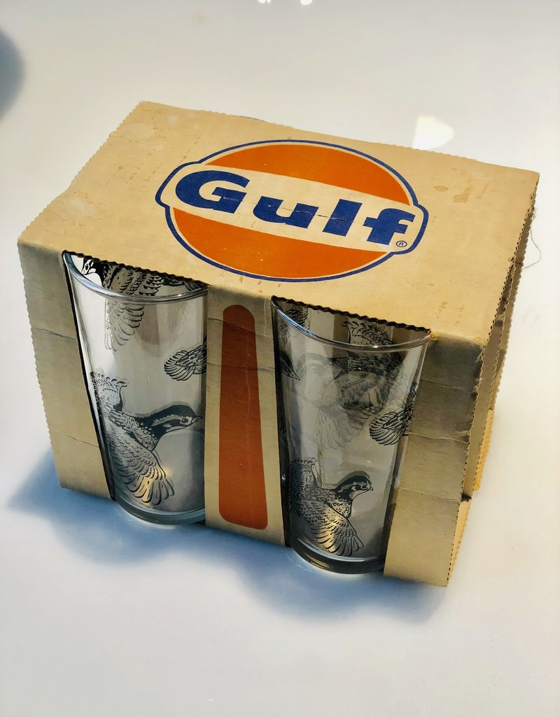 Glass Set, GULF, Set of 4