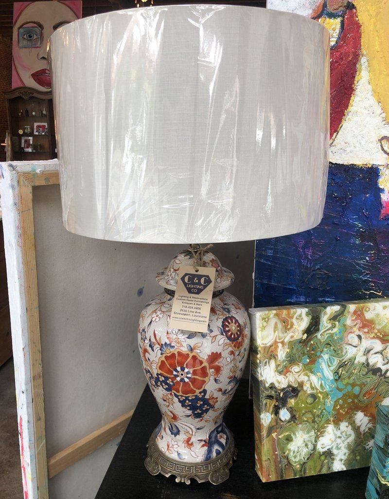 Table Lamp, Pair of Oriental Urn Lamps