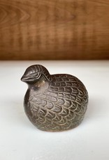 Antique, Brass Sitting Quail Bookend/Paperweight  (small)