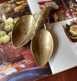 Antique Brass Food Dish, Lobster