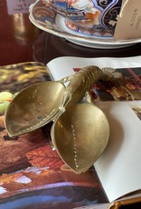 Antique Brass Food Dish, Lobster