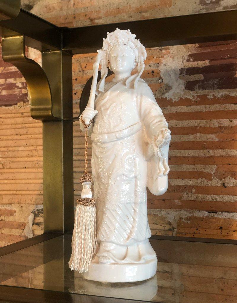 Ceramic, Oriental Goddess with tassel