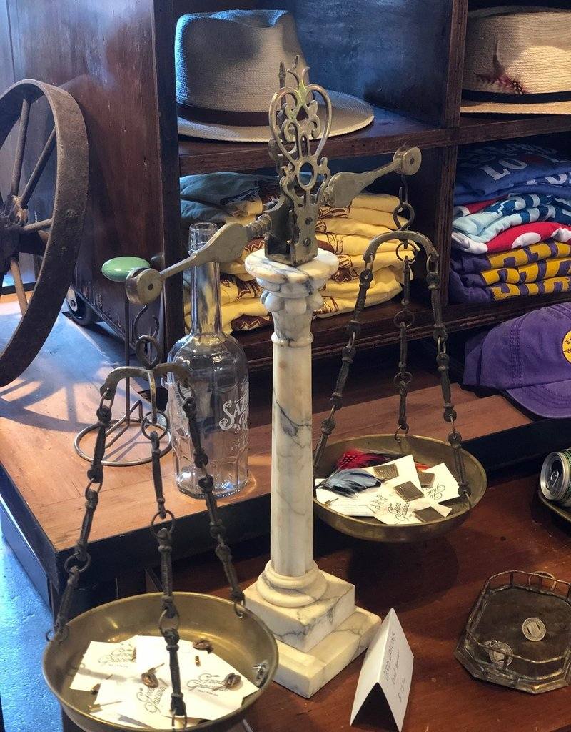 Antique Marble & Brass Scale