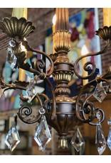 Chandelier, 1970's transitional chandelier