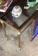 Gold Glass Console Table
