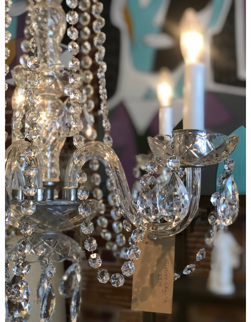 Chandelier, Sixties Crystal 6 Light