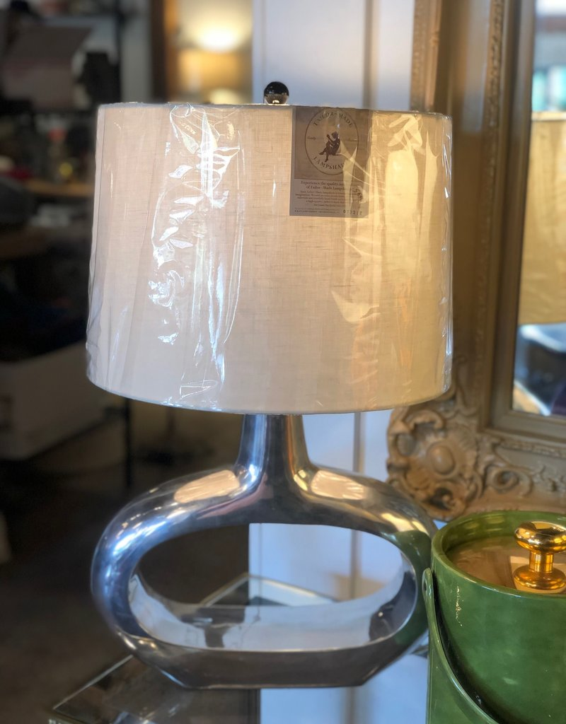 Table Lamp, Silver Mid Century Lamp w/o shade