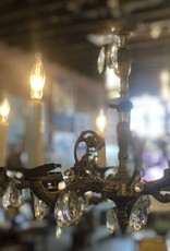 Chandelier, 60's Spanish Bronze, 5 arm