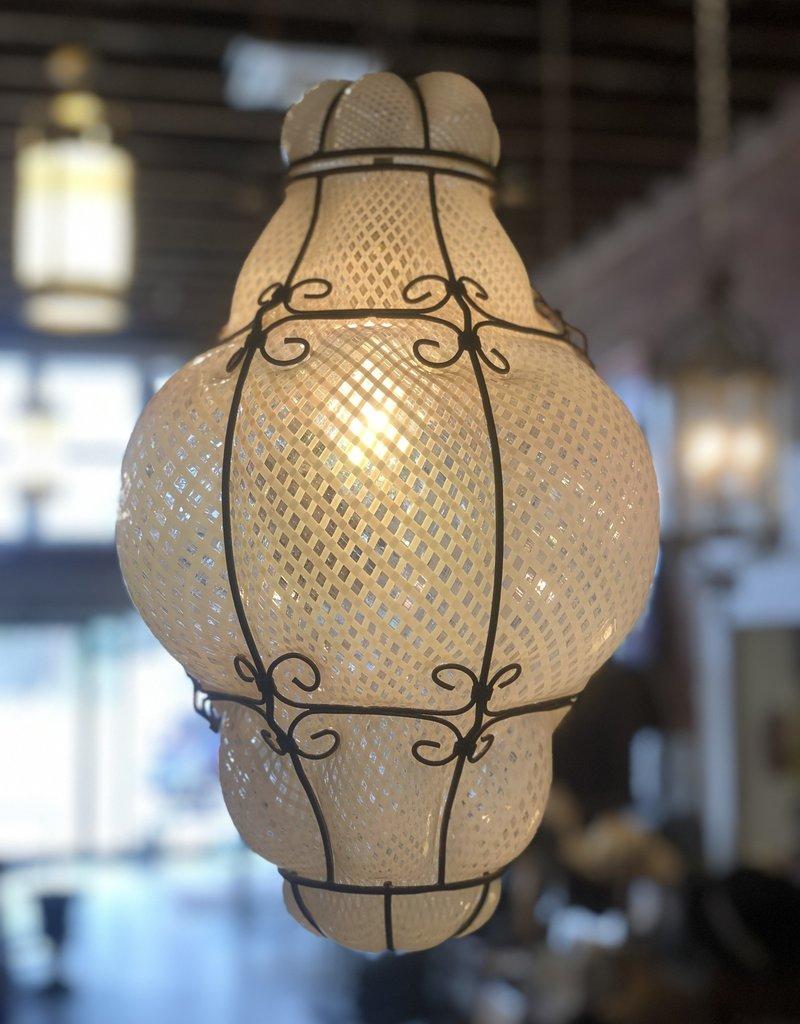 Chandelier, 60's Italian Blown Glass Pendant