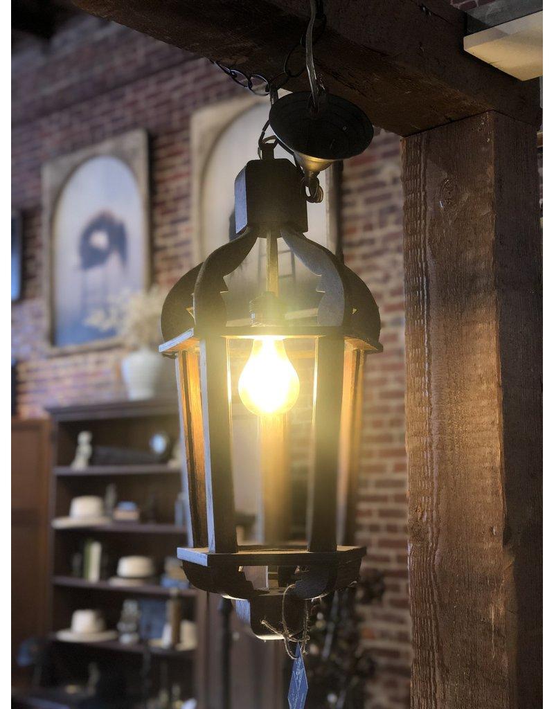 Chandelier, Hand crafted wooden lantern