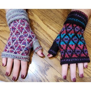 Knitting Class: Stranded Diamond Dazzle Mitts