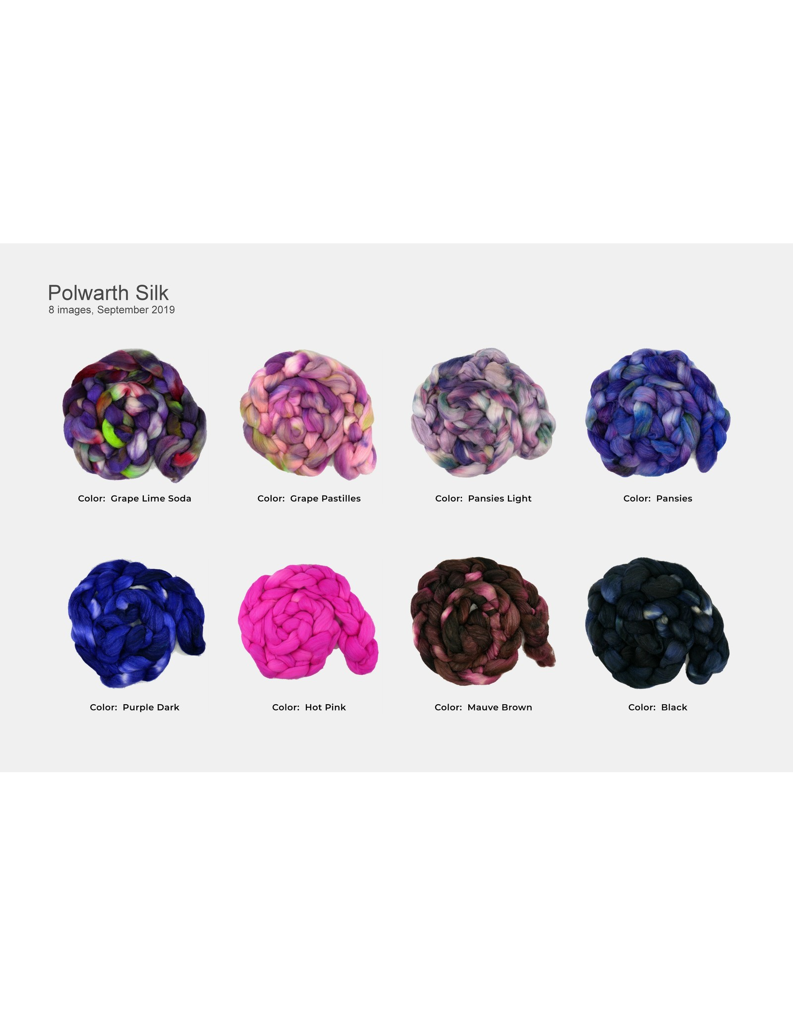 BJS Fiber Creations BJS Polwarth & Silk Roving