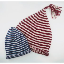 Knitting Class: Helix Striped Hats