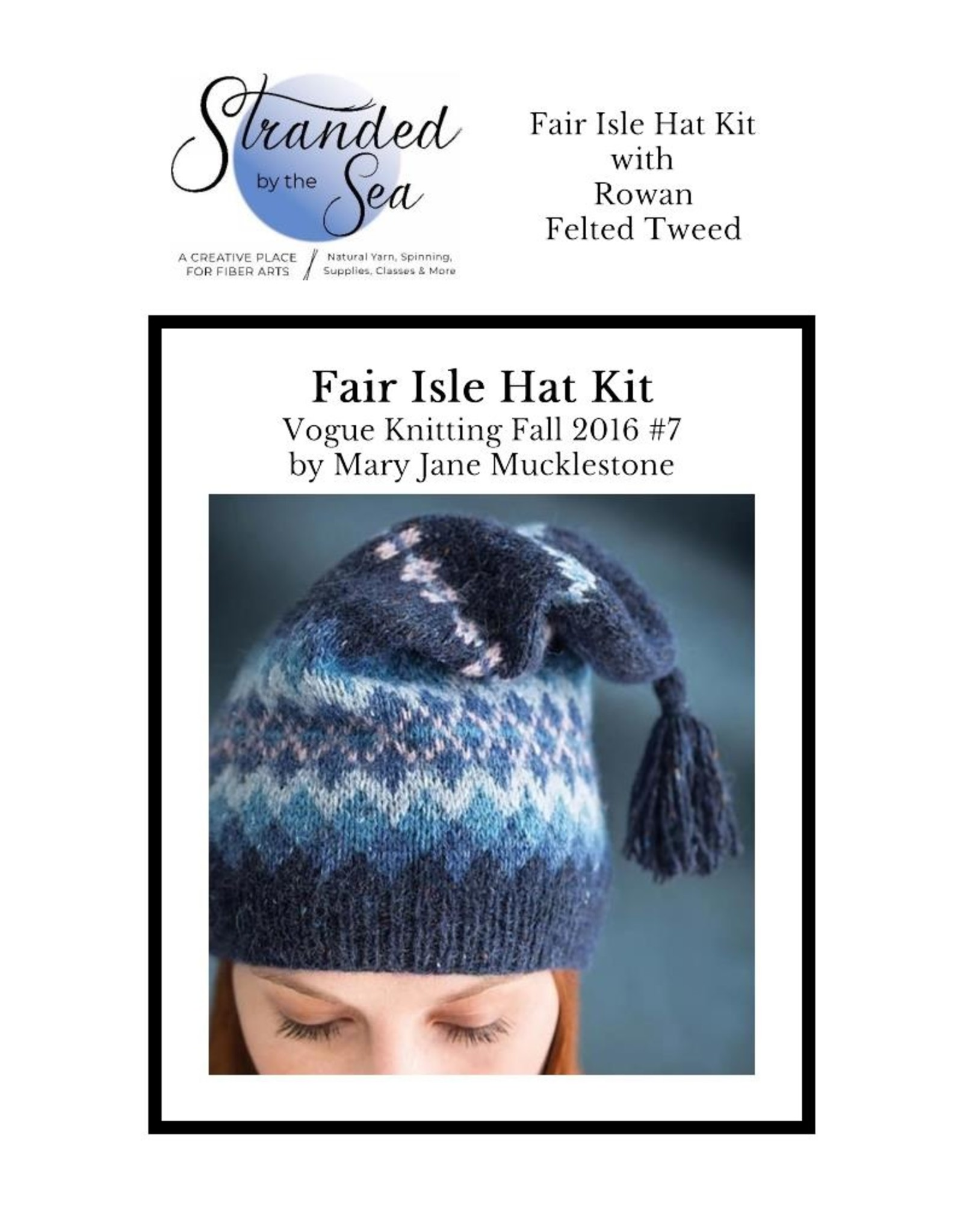 Stranded by the Sea Fair Isle Hat Kit by Mucklestone