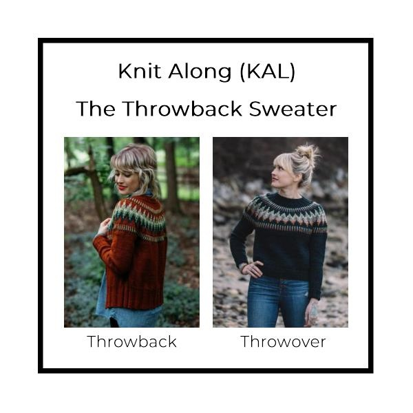 It's Sweater Weather! The Throwback KAL starts Nov 12th