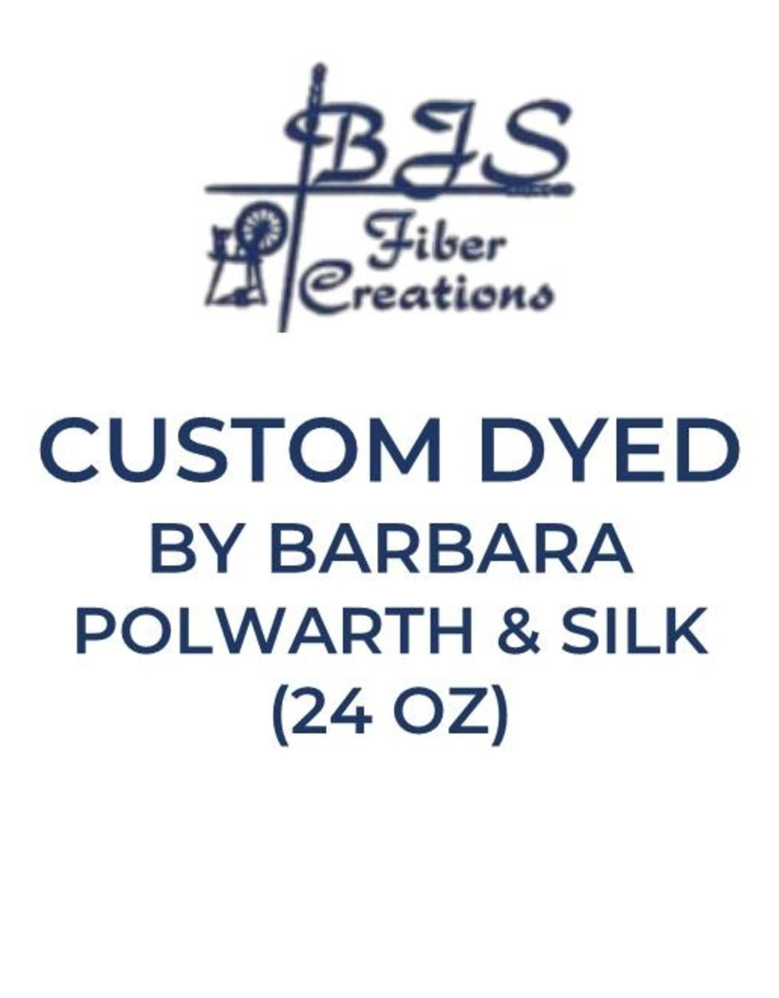 BJS Trunk Show CUSTOM ROVING with BARBARA (Polwarth & Silk 24 oz)