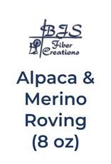 BJS Fiber Creations Alpaca & Merino Roving (8 oz) Brown