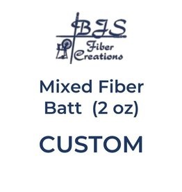 BJS Trunk Show CUSTOM Mixed Fiber Batt (2 oz)