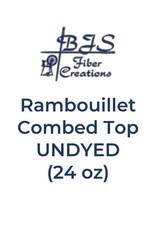 BJS Fiber Creations BJS Rambouillet Combed Top (24 oz) UNDYED