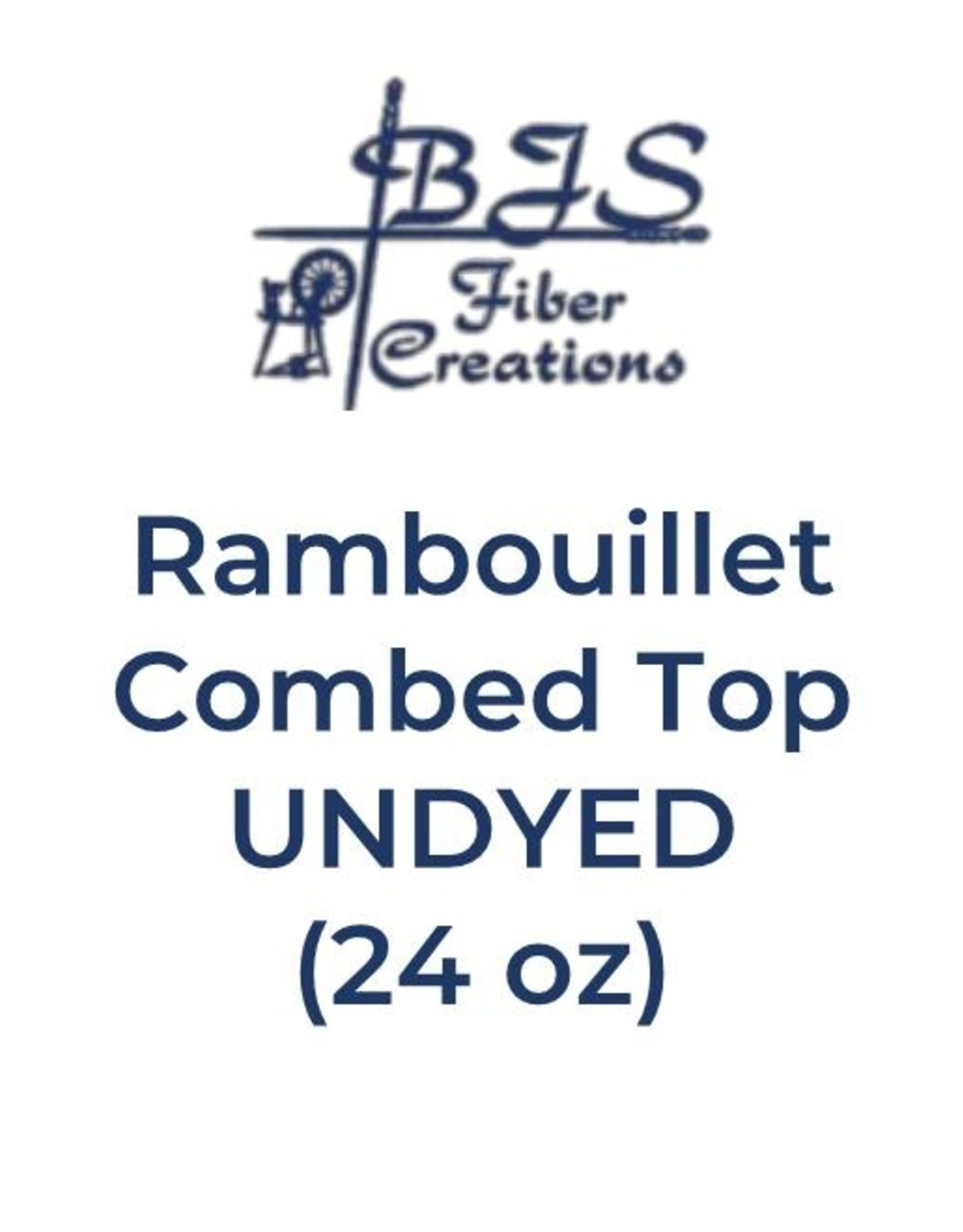 BJS Trunk Show Rambouillet Combed Top (24 oz) UNDYED