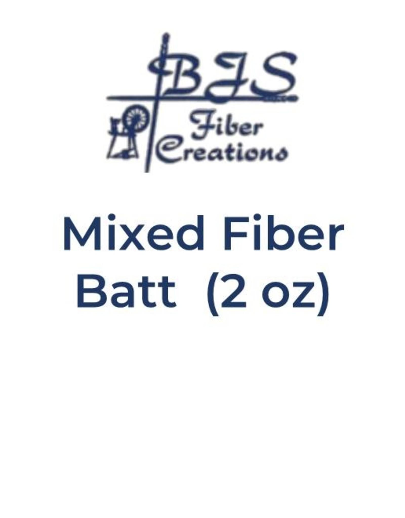 BJS Fiber Creations Mixed Fiber Batts (2 oz) BATT #04