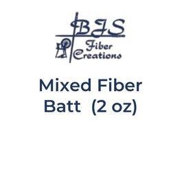 BJS Fiber Creations Mixed Fiber Batts (2 oz) BATT #01
