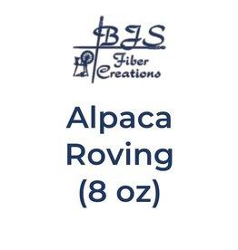 BJS Fiber Creations Alpaca Roving (8 oz) Rust