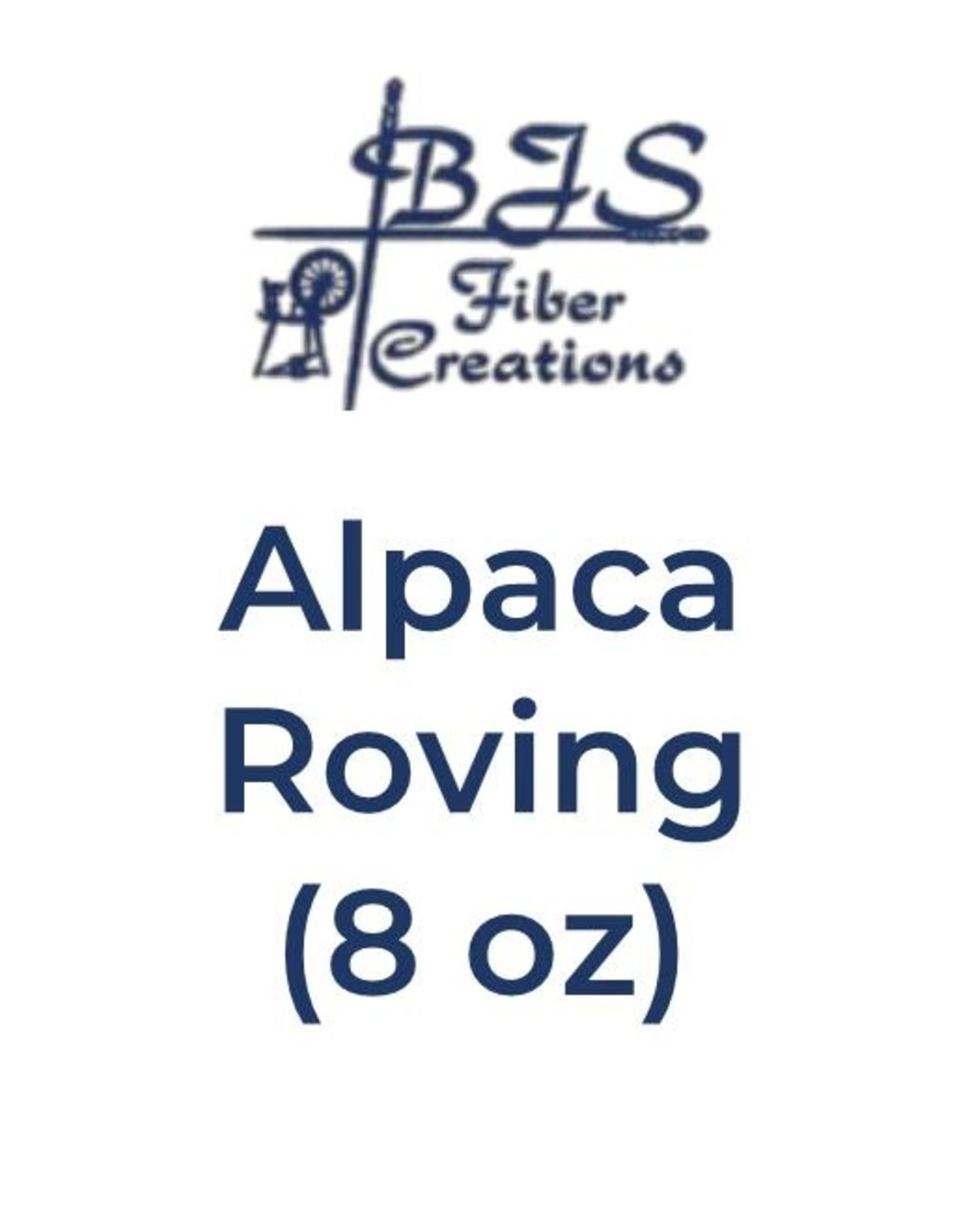 BJS Trunk Show Alpaca Roving (8 oz) Black