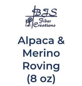 BJS Fiber Creations Alpaca & Merino Roving (8 oz) Cream
