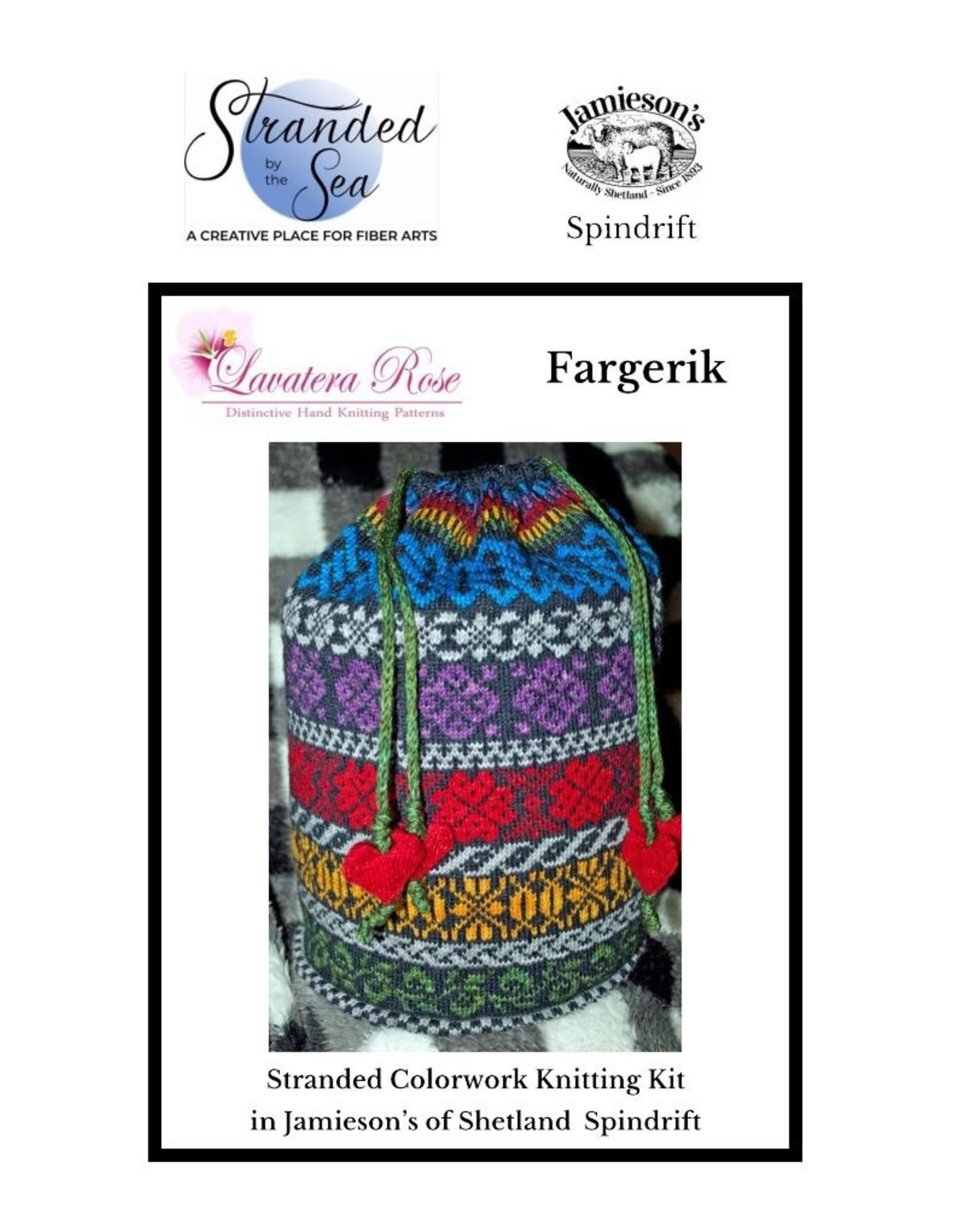 Stranded by the Sea Fargerik Colorwork Knitting Kit in Spindrift