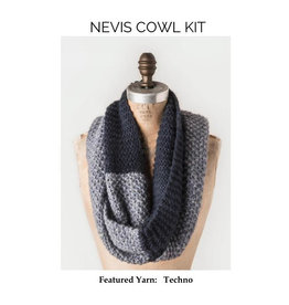 Blue Sky Fibers Blue Sky Fibers (SBS Kit) Nevis Cowl Kit Blues