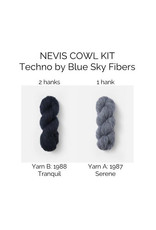 Blue Sky Fibers Blue Sky Fibers (SBS Kit) Nevis Cowl Kit Blues