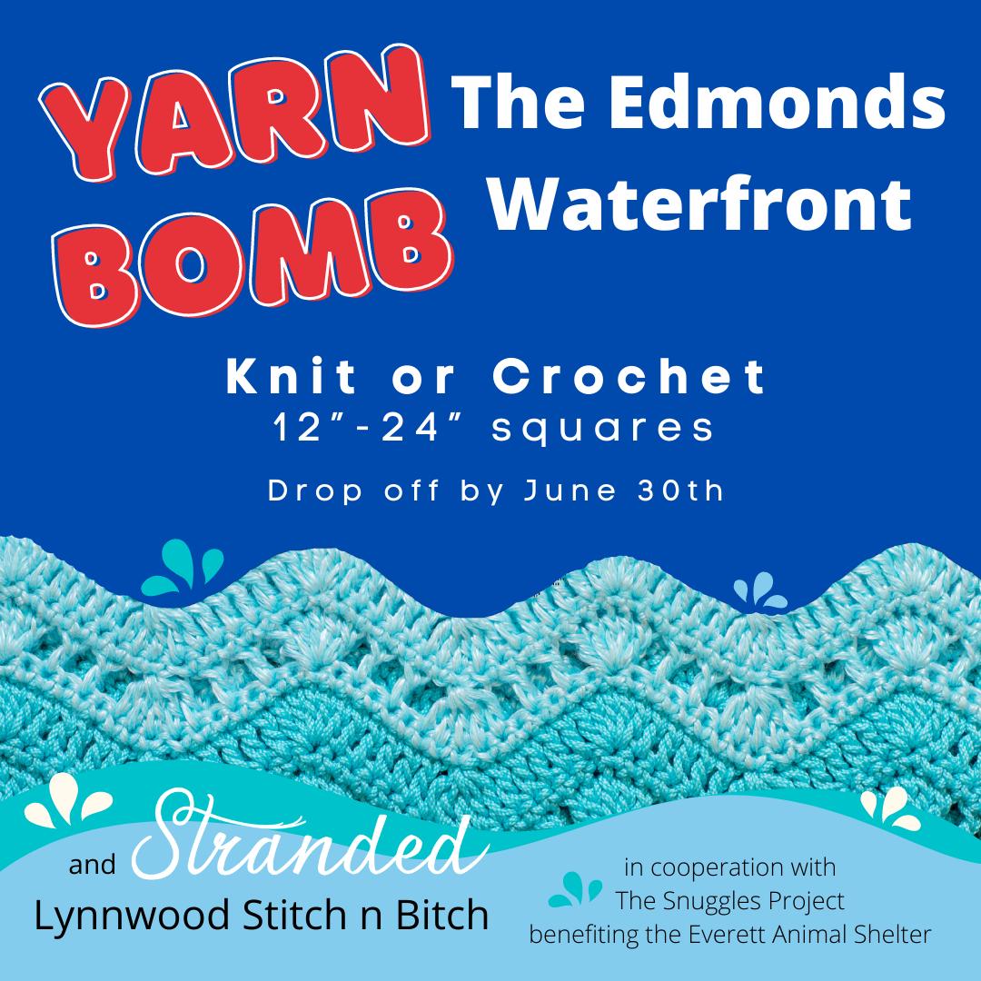 Yarn Bomb the Edmonds Waterfront