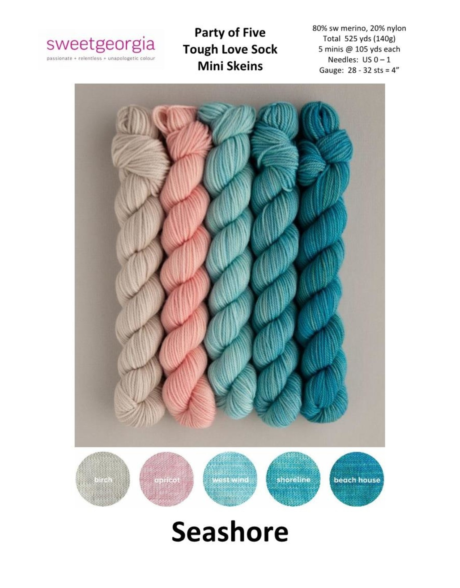 Stranded by the Sea Sea Spinner Shawl Kit - SYC 2020