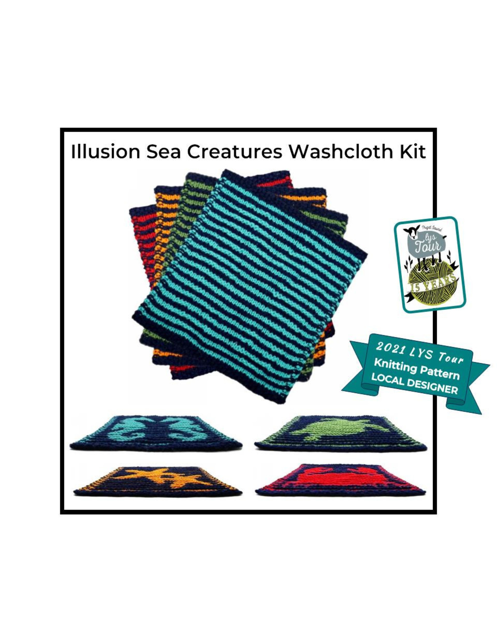 Stranded by the Sea 2021 LYS Tour - Illusion Sea Creatures Knit Kit