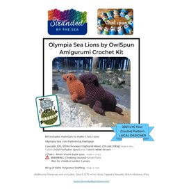Stranded by the Sea 2021 LYS Tour - Sea Lion Crochet Kit - Brown