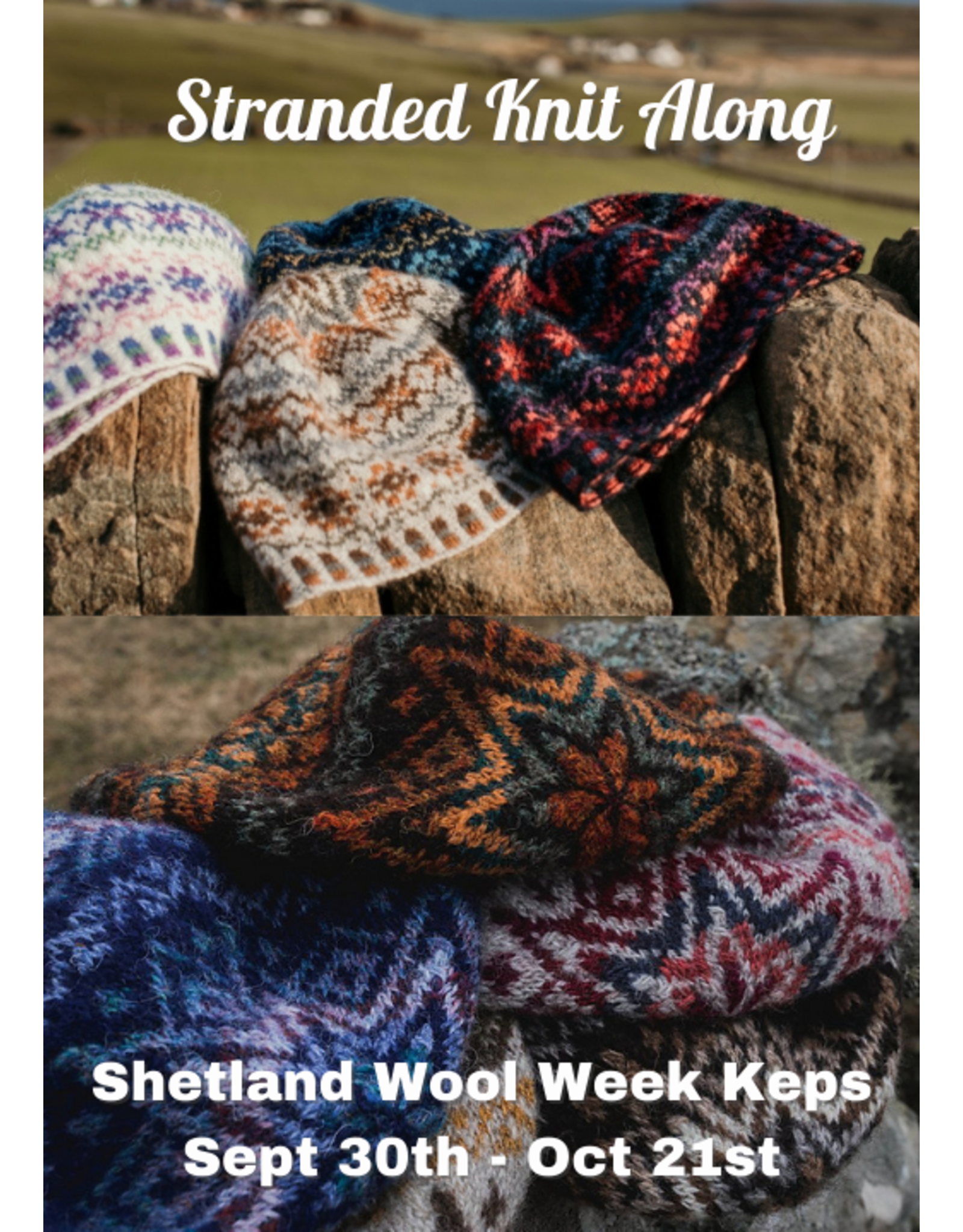 Stranded by the Sea Shetland Wool Week Knit Along (included with kit)