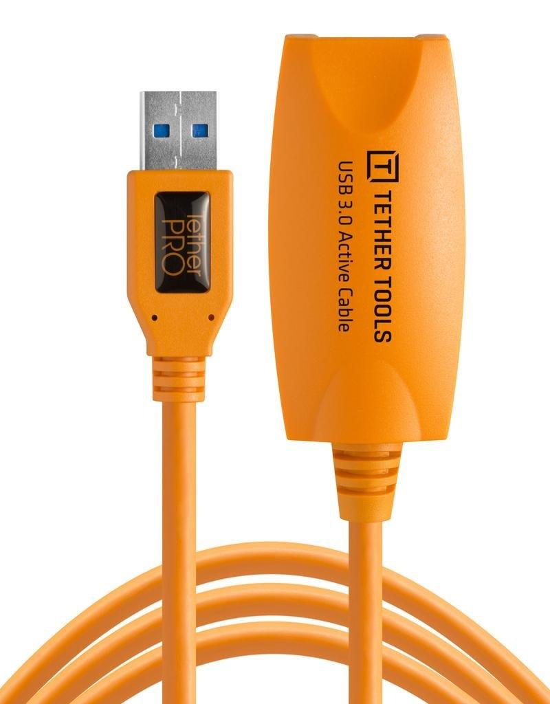 Tether Tools Tether Tools TetherPro USB 3.0 to USB Female Active Extension, 16' (5m), High-Visibility Orange