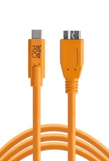 Tether Tools Tether Tools TetherPro USB-C to 3.0 Micro-B, 15' (4.6m), High-Visibility Orange